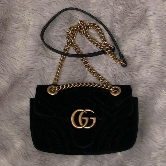 Gucci Handbags - Authentic Gucci Marmont Velvet Mini Bag b4734dfec73de